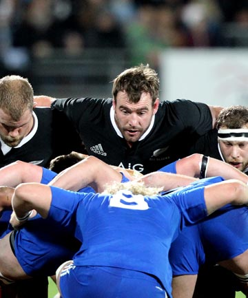 All Blacks scrum