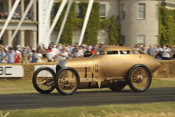 A Miller Aerodynamic Coupe runs at the 2013 Goodwood Festival of Speed.