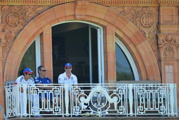 Alastair Cook, Graham Gooch and Kevin Pietersen