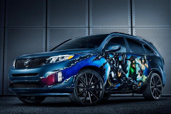 Ths seven-seat Sorento marks the final chapter in a 10-month, eight-vehicle partnership between DC Entertainment and Kia based on the iconic characters that