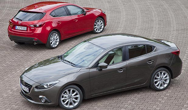 Mazda3 hatch and sedan.