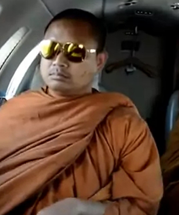 Thai monks on flight