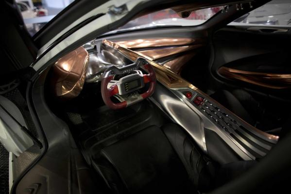 Inside the GTbyCitroen supercar at the 2013 CRC Speedshow in Auckland.