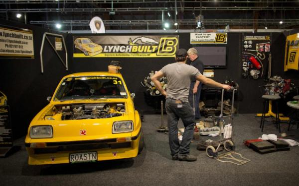Getting ready for the 2013 CRC Speedshow in Auckland.