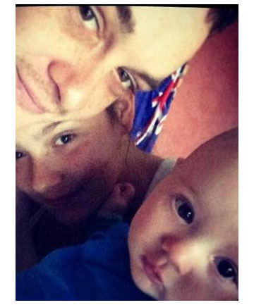 Casey Mifsud, Steven Hume and their son Zhaiden