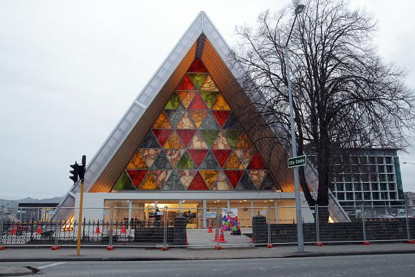 Cardboard cathedral exterior