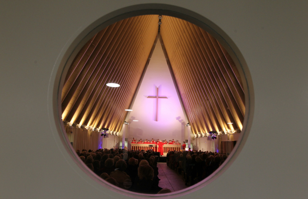 Cardboard cathedral concert