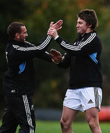 RULED OUT: Aaron Cruden, left, and Beauden Barrett.