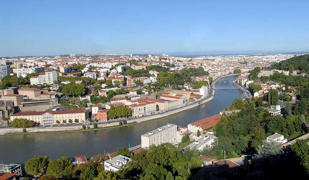 Lyon and the Saone River