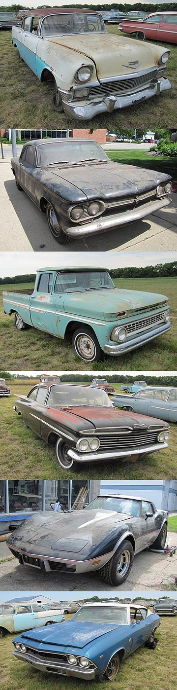 A few cars from the 500-strong Ray Lambrecht collection of Chevrolets that will be auctioned in September in the US.