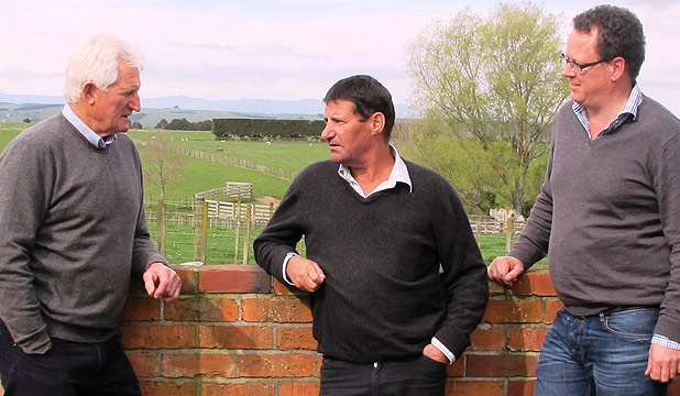 Cliff King, Douglas Duncan and David Marshall are on the lookout for sheep and beef farms for Kiwi investors.