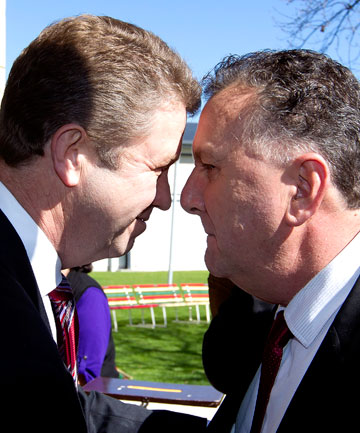 Labour Party leadership contenders David Cunliffe and Shane Jones