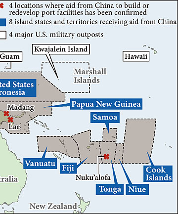 China's pacific influence