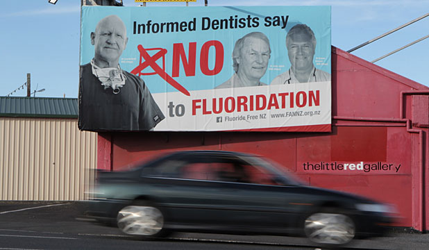 anti-fluoride billboard
