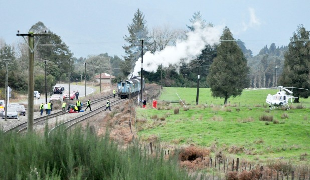 man hit by steam train