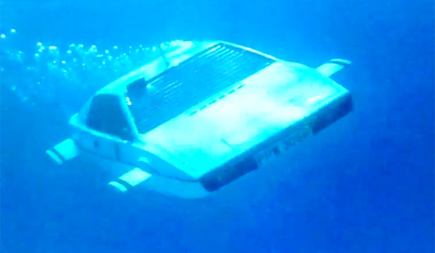 Lotus Esprit submarine car from James Bond movie, The Spy Who Loved Me.