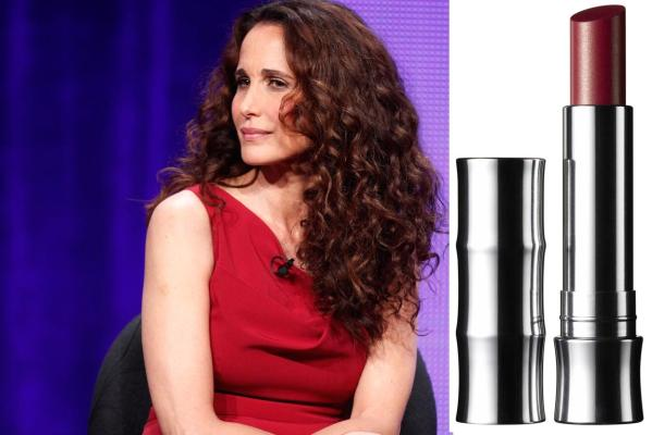 Andie MacDowell and lippy