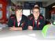 THE CREW: Cousins James Lawrence and Taine Morrissey ready for business at Taine's Tuck Shop.