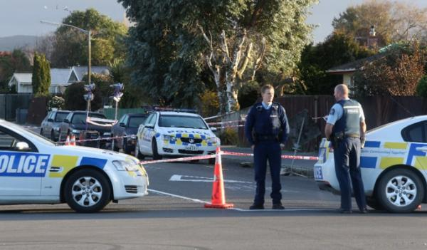 Crime scene at White St, Rangiora
