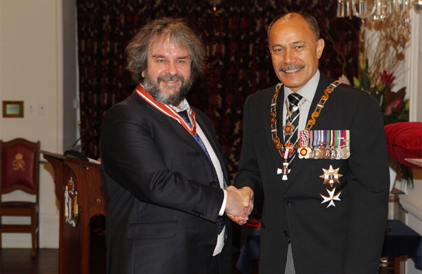 Sir Peter Jackson and Governor-General Sir Jerry Mateparae
