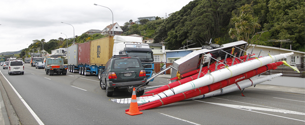 Kayak crash on SH1 near Plimmerton