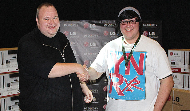 Kim Dotcom and Caleb Makiri