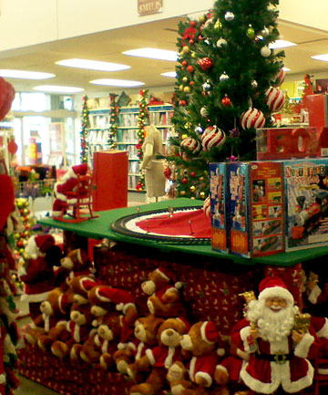 A Christmas display in Spotlight Te Rapa