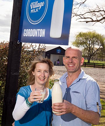 Gordonton dairy farmers Rebecca and Graham Barlow are the la