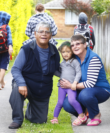 James and Heather Tuhoro, with granddaughter Rerenga Mai Maxwell
