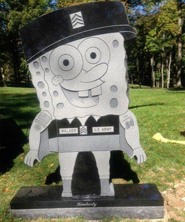 SpongeBob headstone