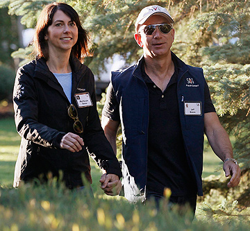 MacKenzie and Jeff Bezos