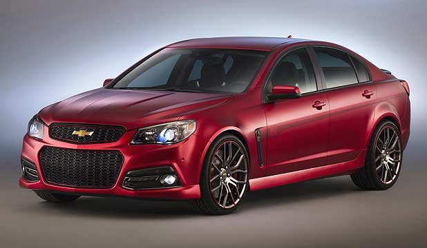 The Jeff Gordon SS performance sedan concept that was unveiled at the 2013 Sema Show in Las Vegas.