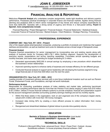 resume with personal statement