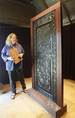 The Red and Black Portal from the Marae at Otuwhero