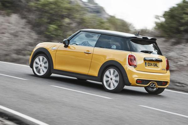 The new Mini Cooper S.