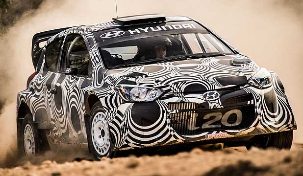 Hyundai's i20 WRC rally car