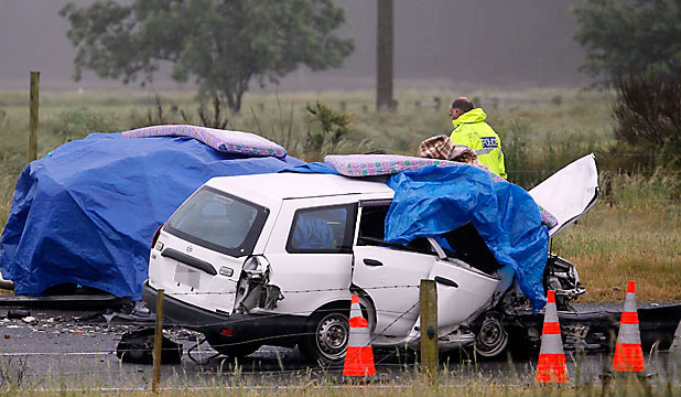 Two killed in four-car crash