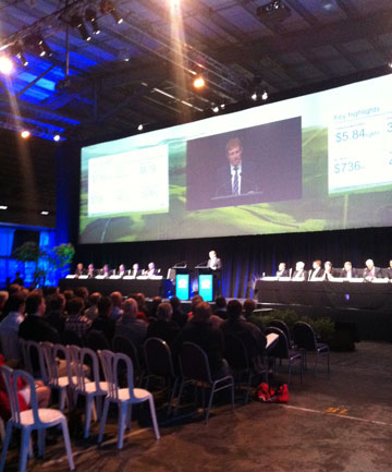 Fonterra's 2013 annual meeting is being held in Edendale, Southland.