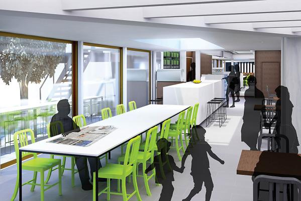 Christchurch Town Hall cafe design