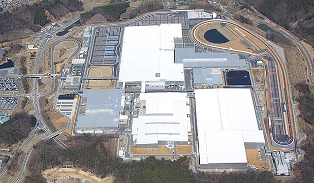 The new Honda assembly plant at Yorii, where the new Jazz destined for New Zealand is being built.