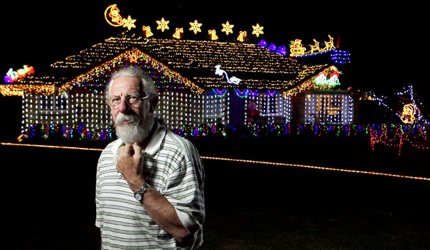 Clive Hart's ornate Christmas lights display