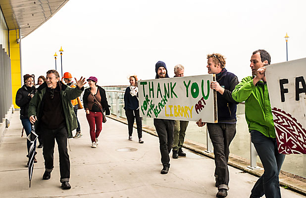 New Brighton gratitude protest