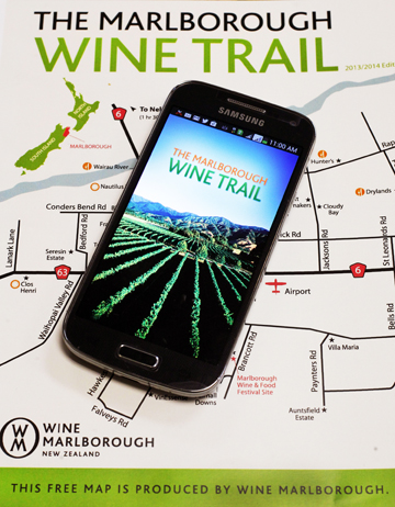 App maps region's wine trail