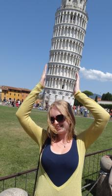 My cliched photo - Me and my Leaning Tower of Pisa Hat