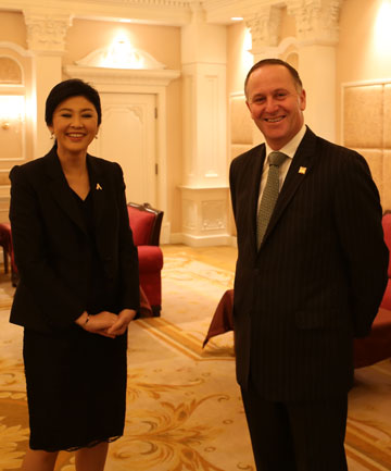 Yingluck Shinawatra and John Key