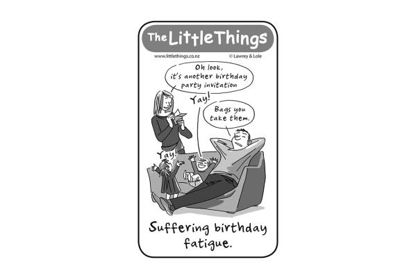 Monday, December 2: Birthday fatigue