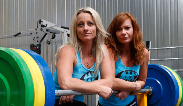 Aimee Hayes, left, and Celia McMillan at Evolve Fitness Gym.