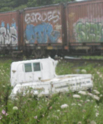 A person has been seriously injured after the train hit a truck in West Auckland.