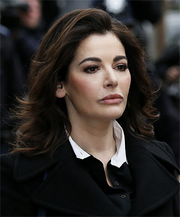 TESTIMONY: TV chef Nigella Lawson arrives at Isleworth Crown Court in west London.