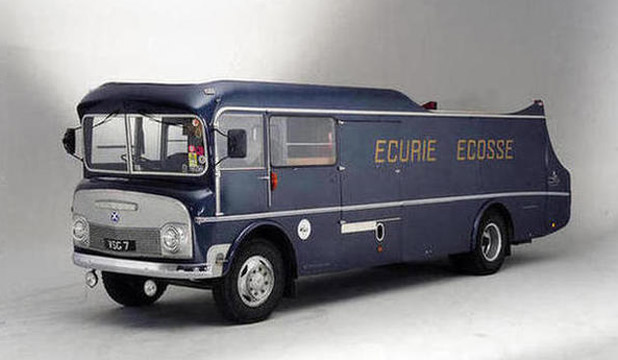 The 1960 Commer TS3 three-car transporter that